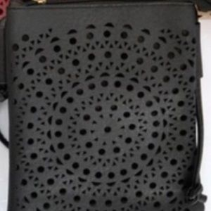 Black adorable crossbody purse by Minky